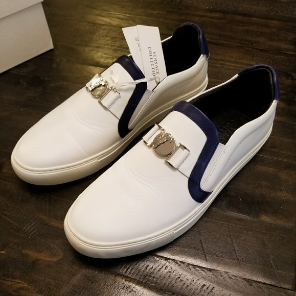 Versace Contrast White Sneaker Men Us 9